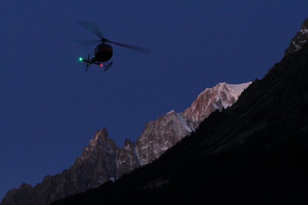 Aiguille Noire Helicopter
