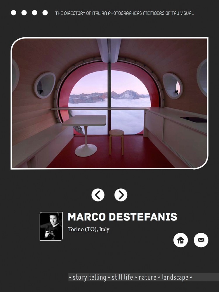 Marco Destefanis on TAUvisual'13 Italian photographers APP